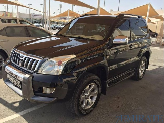 toyota prado 2004 black 2 doors very clean sharjah 7emirate best place to buy sell and find. Black Bedroom Furniture Sets. Home Design Ideas
