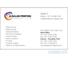 PRINTING SERVICES IN ABU DHABI, GOOD QUALITY AND BEST PRICE
