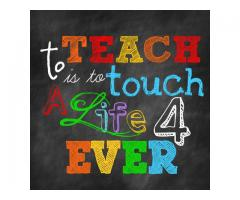 Teacher Required for a School in Dubai