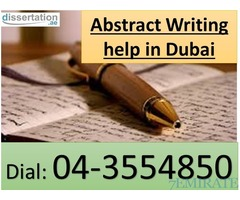 Abstract Writing help by Dissertation.ae, Call- 0508071977