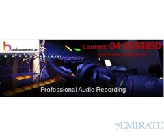 043554850- High Quality Audio Recording Services in Dubai by Brandmanagment.ae
