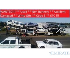 AJMAN,UAE,050 9113374,I WANT YOUR CARS USED SALVAGE,ACCIDENT SCRAP DAMAGE JUNKS