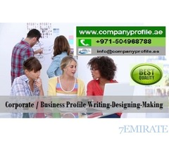 0504968788 Stunning Brand/ Company Profile Writing-Designing in UAE, GCC