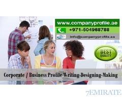0504968788 Stunning Brand/ Company Profile Writing-Designing in UAE, GCC
