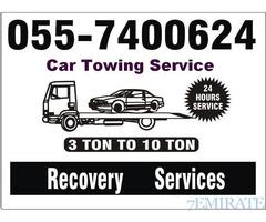 car recovery service dubai sharjah ajman 24 hours 055-7400624