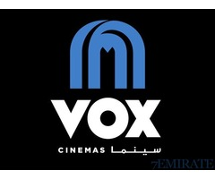 Any Movie Tickets at VOX Cinema only 30 aed