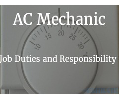 AC Mechanic Required in Dubai