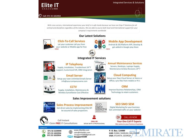 LAPTOPS/DESKTOPS/SERVERS,IP-PBX,WIFI ROUTERS,NETWORK CABLING