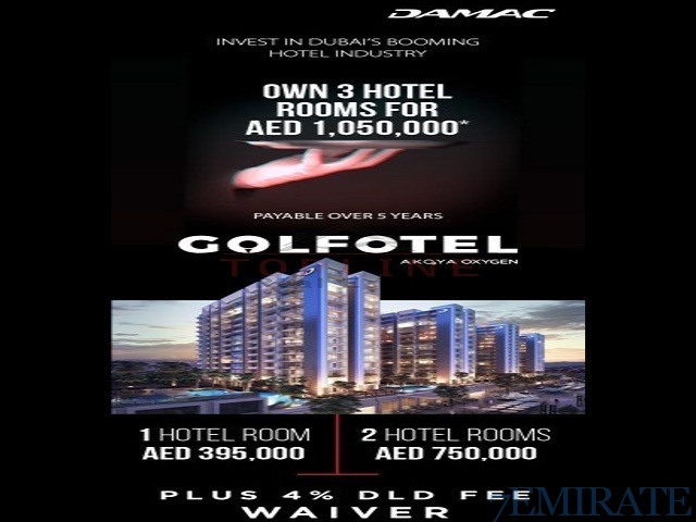 Best Investment in Dubai Golf Hotel Apartments Golfotel Navitas