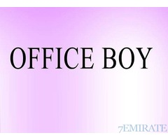 Office Boy Job in Sharjah