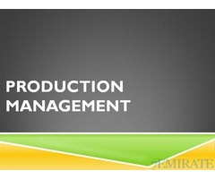 Hiring one production manager for our factory in Ras Al Khaima