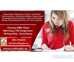 0562764434 Fineness MBA Thesis, MSC Essay, PhD Assignment Writing Help in UAE