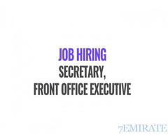 Walk-in Interview Job for Front Office Executive for Trading Company
