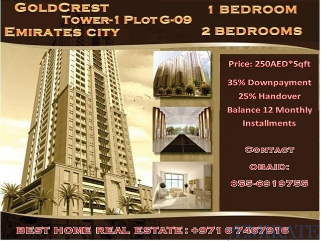 GOLD CREST TOWER BOOKING ON 12 MONTHLY INSTALLMENT