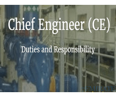 Chief Maintenance Engineer Required for Company in Abu Dhabi