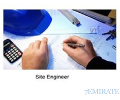 We Need Civil Site Engineer with Minimum 3 to 5 Years Experience in Dubai