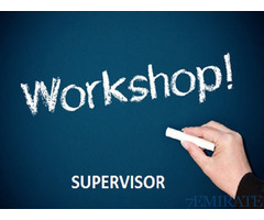 Workshop Supervisor Required for Our construction company in Ras Al Khaimah