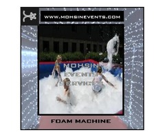 Foam, Smoke, Low Fog, Snow & Party Machines Rental by Mohsin Events Services