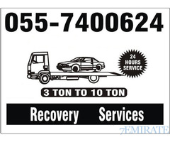 Car Recovery Towing Service in Dubai Sharjah 24 Hours 055 7400624