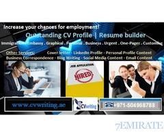 971504968788 Outstanding CV Profile| Resume builder in UAE, GCC