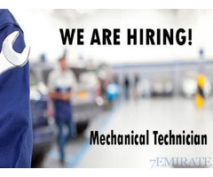 Mechanical Technician Required for Company in Abu Dhabi