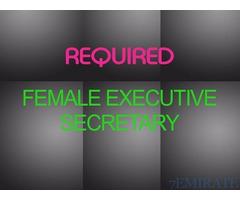 Female Executive Secretary cum Receptionist Required for Company in Dubai