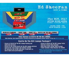 Ed Sheeran Front Zone Tickets for Sale in Dubai