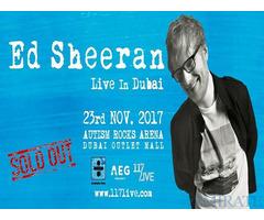 Ed Sheeran Tickets for Sale in Dubai