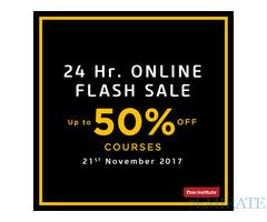 24 Hr. Online Flash Sale – 21st November 2017