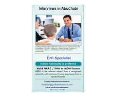 Specialist ENT for Abudhabi- Medical Centre