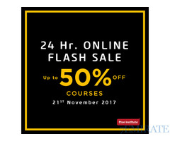 1 Day Left for the 24 Hr. Online Flash Sale – 21st November 2017