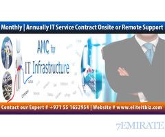 IT AMC Infrastructure Monthly Services for companies Sharjah Dubai Ajman UAE