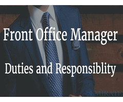 Front Office Manager Required for Al Fariq Properties in Dubai