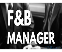 FB Manager Required for Aryana Hotel in Dubai