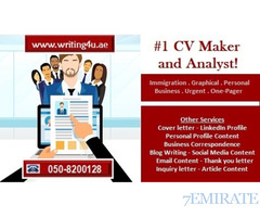 CV Maker and Analyst! 0508200128 Proficiently-crafted CV Writing in UAE