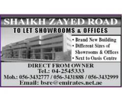 SHOWROOMS & OFFICES for Rent @ Building 2020 in Sheikh Zayed Road