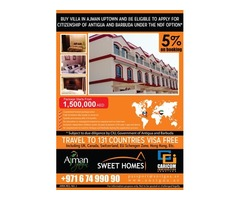 Buy Villa in Ajman and get citizenship of Antigua and Barbuda-NDF