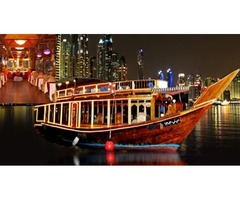 Dubai Dhow Cruise Deal with pick and drop