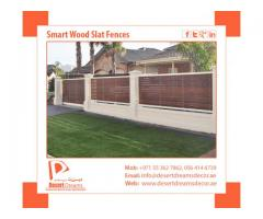 Manufacturer & Installation of Smart Wooden Slat Fences in UAE.