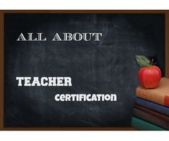 Teacher Certification only in 6 Months