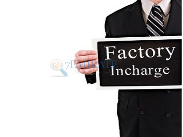 Image result for Factory Incharge