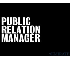 Well Experienced Indian PR Manager Required in Dubai
