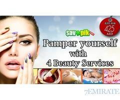 Hot oil treatment with saffron facial