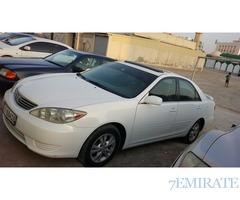 Camry 2005 full option white color for sale in Ajman