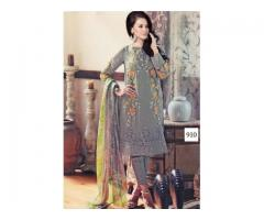 Georgette Embroidered Salwar - Semi Stitched