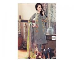 Georgette Embroidered Salwar - Semi Stitched
