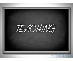 Teacher Required for institute in Ajman