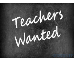 Urgently Required Teachers for leading CBSE Senior Secondary School