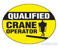 Crane Operator Required for a Construction Company in Ajman