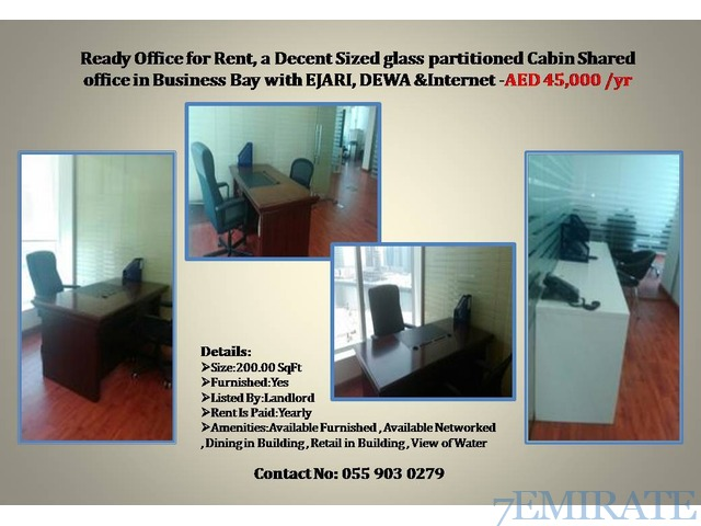 Ready to move in Office with complete business available-Direct owner